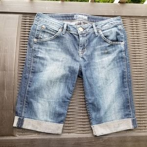 Hudson Capri Denim Cuff Shorts 29